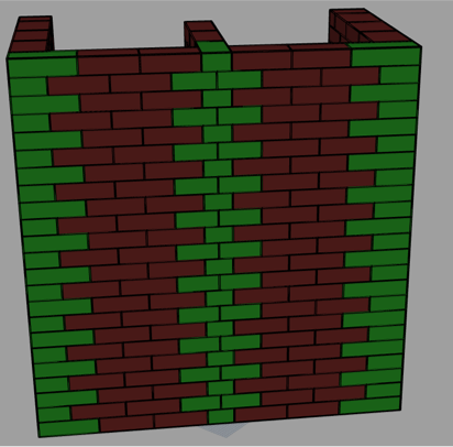 Fast generative tool for masonry structures geometries